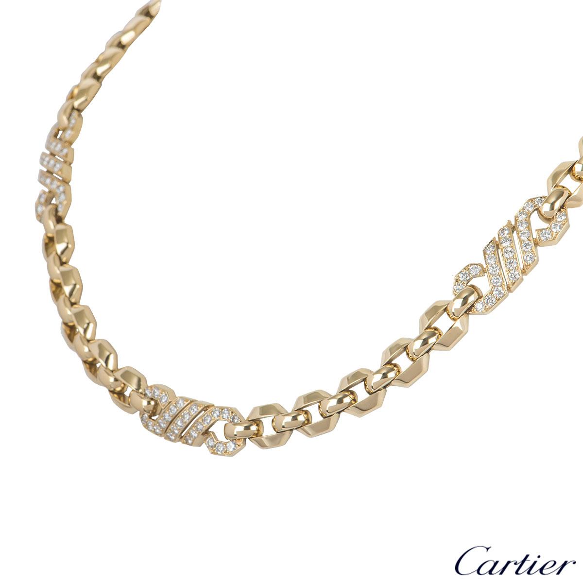 Cartier Yellow Gold Diamond Necklace